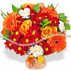 Luxury bouquet of roses - Autumn forest